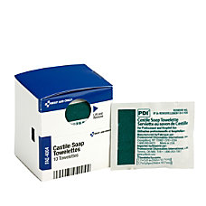 First Aid Castile Soap Towelettes 10Box