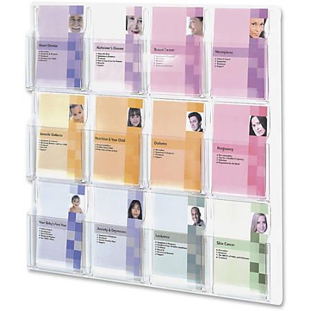Safco® Reveal 12-Pocket Break-Resistant Plastic Booklet Display Rack, Clear