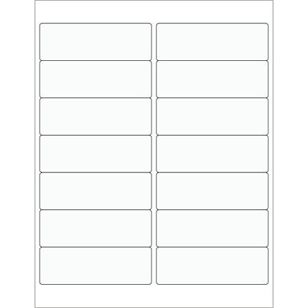 """Office Depot® Brand Rectangle Laser Labels, LL222CL, 4"""" x 1 3/8"""", Clear, Pack Of 1,400"""