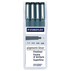 Staedtler Pigment Liners Black Pack Of