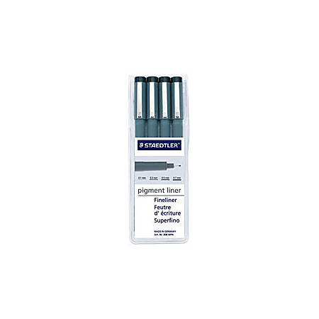 Staedtler® Pigment Liners, Black, Pack Of 4