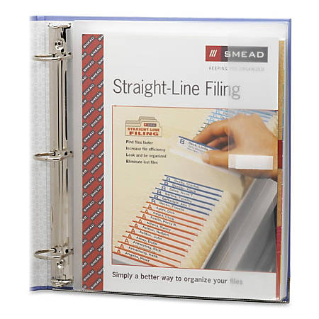 "Smead Poly Three-Ring Envelope - 1.25"" Maximum Capacity - Ring Binder - Clear - Poly - 1 / Pack"
