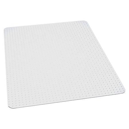 """ES Robbins Multi-Task AnchorBar Carpet Chair Mat, Rectangular, 46""""W x 60""""D, Clear"""