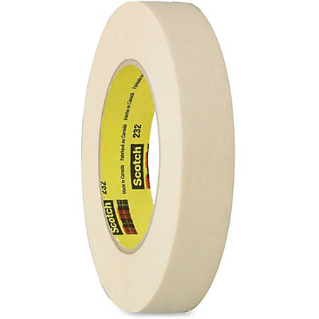 "Scotch 232 High-performance Masking Tape - 1.89"" Width x 60 yd Length - 3"" Core - Rubber - Crepe Paper Backing - Adhesive, Easy Tear, Pressure Sensitive, Residue-free - 24 / Carton - Tan"