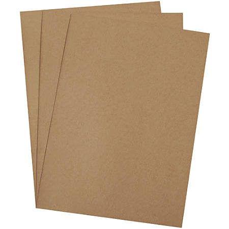 """Office Depot® Brand Chipboard Pads, 26"""" x 38"""", 100% Recycled, Kraft, Case Of 90"""