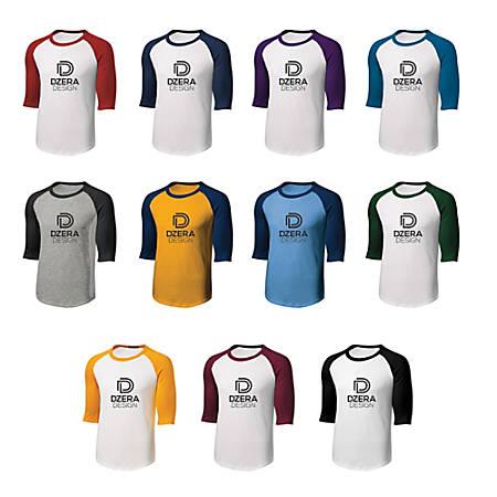Screen-Printed Raglan Jersey T-Shirt