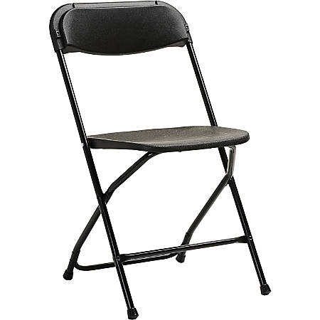 Samsonite® 2200 Series Injection-Molded Stackable Folding Chairs, Black, Set Of 10