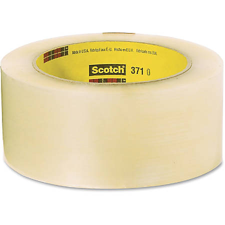 """Scotch 371 Box-sealing Tape - 1.88"""" Width x 54.60 yd Length - 3"""" Core - Synthetic Rubber Resin - Polypropylene Film Backing - Adhesive, Durable, Pressure Sensitive - 36 / Carton - Clear"""