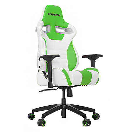 Vertagear Racing Series S-Line SL4000 Gaming Chair, White/Green