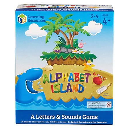 Learning Resources Alphabet Island Letter/Sounds Game - Educational - 2 to 4 Players