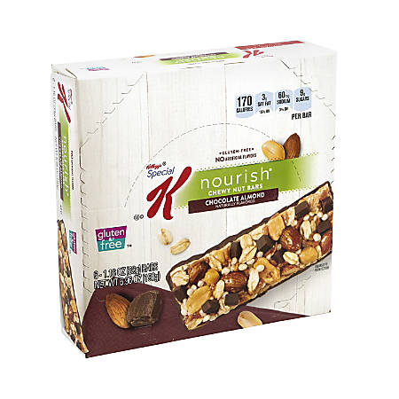 Special K Nourish Chewy Nut Bars Chocolate Almond, 1.16 oz, 6 Count, 2 Pack