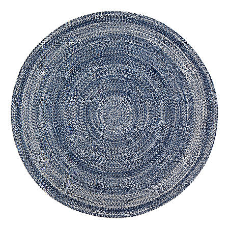 Anji Mountain Epona Braided Round Rug, 6', Blue