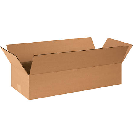 """Office Depot® Brand Corrugated Boxes, 4""""H x 8""""W x 24""""D, 15% Recycled, Kraft, Bundle Of 25"""