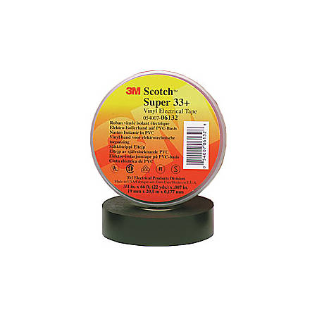 """3M™ 33+ Electrical Tape, 3/4"""" x 22 Yd., Black, Case Of 100"""