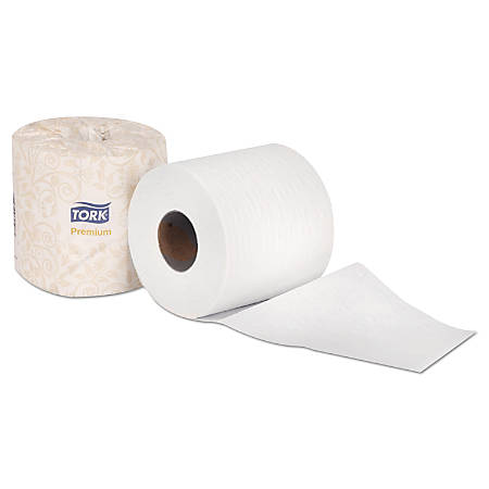 Tork® Premium 2-Ply Bathroom Tissue, White, 460 Sheets Per Roll, Carton Of 48 Rolls