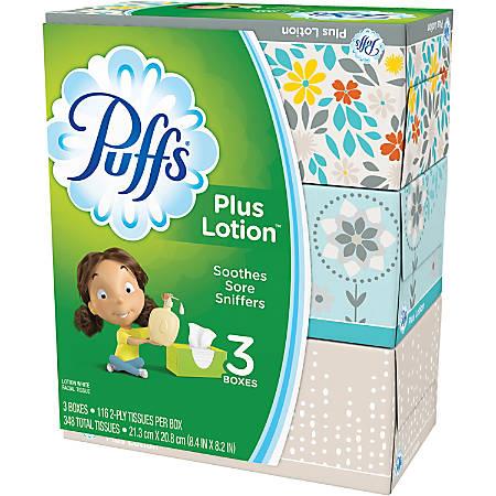 Puffs Plus Lotion Facial Tissues - White - 116 Sheets - 24 / Carton