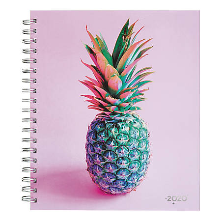 "Cambridge Matt Crump Weekly/Monthly Hardcover Planner, 8-7/8"" x 10"", Pineapple, January to December 2020, 6313-904"