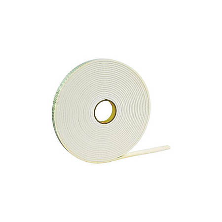 """3M™ 4016 Double Sided Foam Tape, 0.5"""" x 36 Yd, Natural, Case Of 18"""