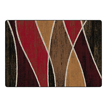 """Flagship Carpets Waterford Rectangular Area Rug, 100"""" x 144"""", Red"""