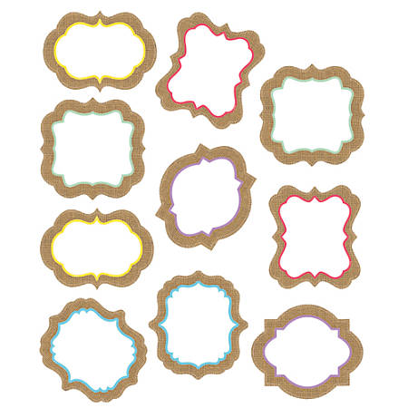 Teacher Created Resources Decorative Accents, Shabby Chic Burlap, Assorted Colors, Pre-K - Grade 8, Pack Of 30