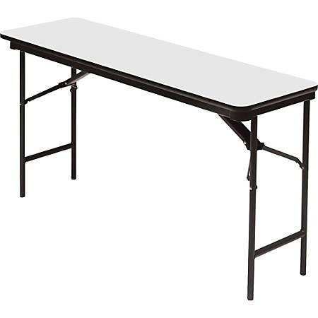"Iceberg Premium Wood Laminate Folding Table, Rectangular, 72""W x 18""D, Gray/Charcoal"