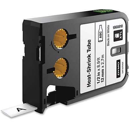 "DYMO® XTL Heat-Shrink Tube Cartridge, DYM1868810, Permanent Adhesive, 1/2""W x 106 19/64""L, Thermal Transfer, White, Polyolefin"