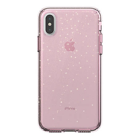 89913216d8 Speck Presidio CLEAR GLITTER Case For Apple iPhone X Pink - Office Depot