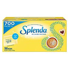 Splenda No Calorie Sweetener Packets Box