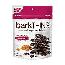 barkTHINS Snacking Chocolate Dark Chocolate Almonds