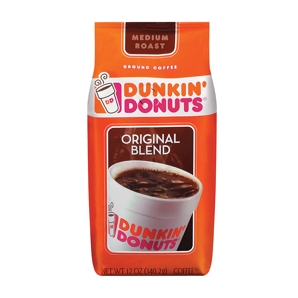 Wake up to the smell of fresh Dunkin' Donuts original blend coffee brewing in your own coffeemaker. Great for the home or office, you can enjoy the same great doughnut shop-style taste you've grown to love, any time.  Dunkin' Donuts coffee bags make great gifts! Offers a rich, fresh, bold taste every time.  Medium roasted to get you up and running in the morning. Enjoy rich, smooth flavor made from 100% premium Arabica beans.  Industry-regarded superior grade of coffee.  Makes up to forty 6-oz cups of coffee.