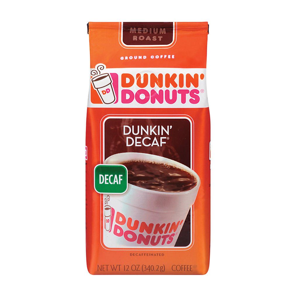 Get the famous Dunkin' Donuts taste without the caffeine  Naturally decaffeinated using only pure water and natural ingredients.  Blended and medium-roasted to bring out the fullest flavor.  12 oz. resealable bag helps to ensure fresh coffee every time.  Makes up to forty 6-oz cups of coffee.