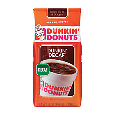 Dunkin Donuts Decaffeinated Coffee 12 Oz