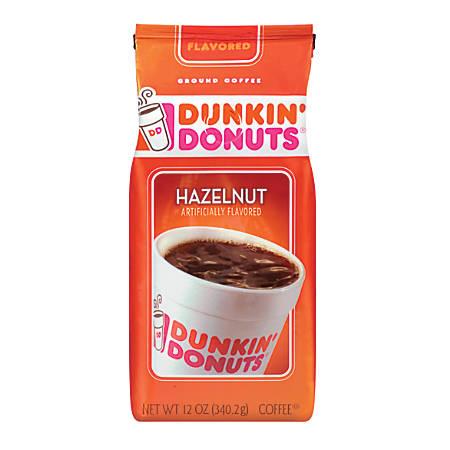 Dunkin Donuts® Hazelnut Coffee, 12 Oz Bag