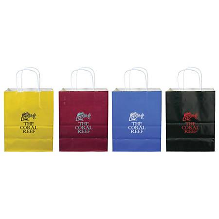 "Matte Finish Paper Bag, Small, 10 3/4""H x 8 1/4""W x 4 1/4""D"