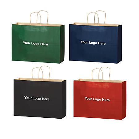 "Matte Paper Bag, Medium, 16""H x 6""W x 13""D"