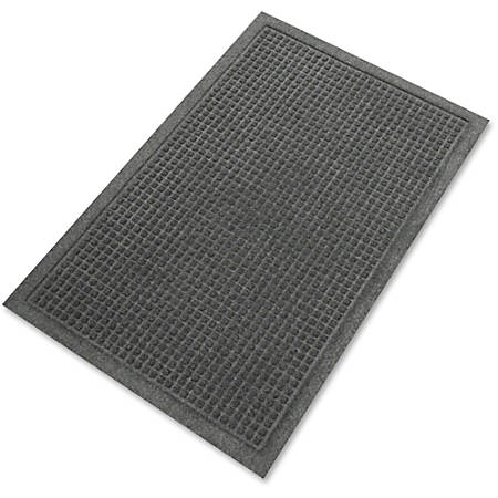 "Guardian Floor Protection EcoGuard Floor Mat - Indoor, Outdoor, Floor, Hard Floor, Carpeted Floor, Entryway, Hallway, Lobby - 60"" Length x 36"" Width - Rectangle - Polyethylene Terephthalate (PET), Fabric - Charcoal"