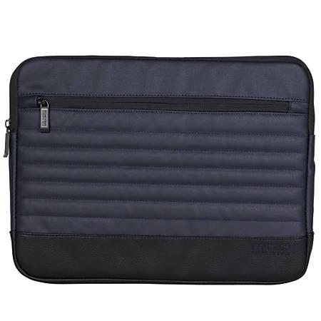 """Kenneth Cole Reaction R-Tech Single-Compartment Laptop Case, 15.25""""H x 11.25""""W x 1""""D, Navy"""