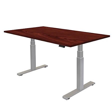 "Fellowes® Cambio Height-Adjustable Desk, 48""W, Mahogany"