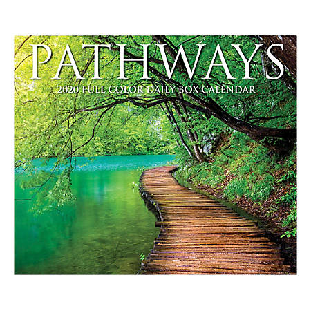 "Willow Creek Press Page-A-Day Daily Desk Calendar, 5-1/2"" x 6-1/4"", Pathways, January to December 2020, 08942"