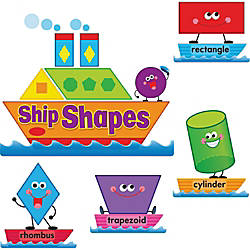 Trend Ship ShapesColors Bulletin Board Set