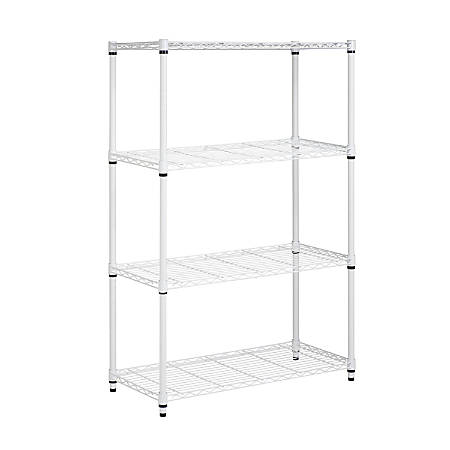 Honey-Can-Do Urban Steel Adjustable Shelving Unit, 4-Tiers, White