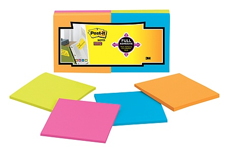 Post It Super Sticky Full Stick Notes 3 X 3 Rio De Janeiro Pack Of