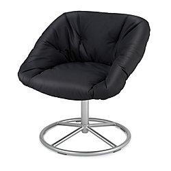 """Papasan Chair, 30 3/4""""H x 28""""W x 26""""D, Black"""