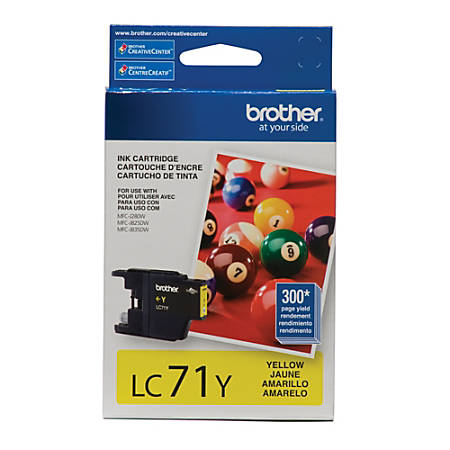 Brother® LC71Y Yellow Ink Cartridge