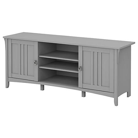 "Bush Furniture Salinas 60""W TV Stand For 70"" TVs, Cape Cod Gray, Standard Delivery"