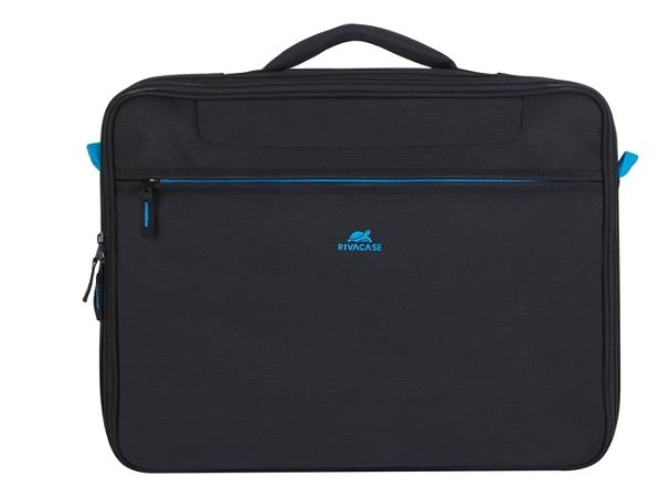 "RIVACASE 8087 Regent II Clamshell Bag With 16"" Laptop Pocket, Black"