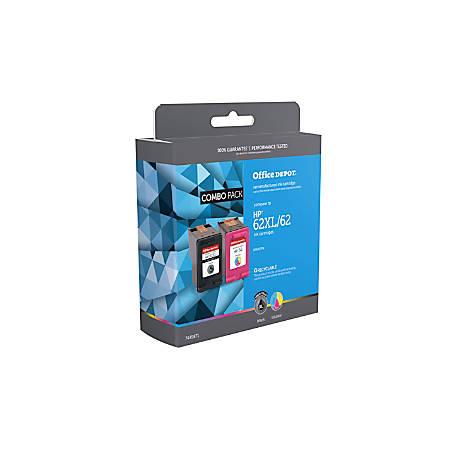 Office Depot® Brand OD62XLK62C (HP 62XL/62 / N9H67FN) Remanufactured Black/Tri-Color Ink Cartridges, Pack Of 2