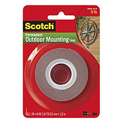 Scotch Permanent Heavy Duty Outdoor Mounting Tape Double