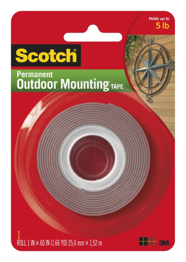 Amazing Scotch Permanent Outdoor Mounting Tape 1 Width X 5 Ft Length 1 Core Adhesive  Backing Double Sided Permanent Mounting 1 Roll Gray By Office Depot U0026  OfficeMax