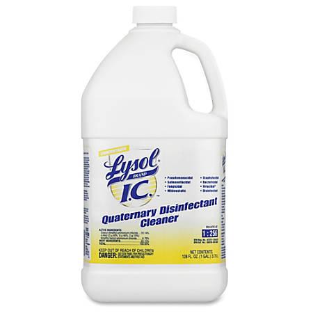 Lysol Quaternary Disinfectant Cleaner - Liquid - 1 gal (128 fl oz) - Original Scent - 1 Each - Amber
